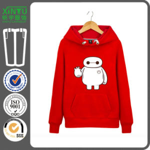 2016 Red Color Cheap Fleece Pullover Couple Hoodie Jacket pictures & photos