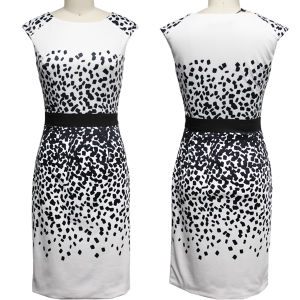 Black & White Digital Printed Dress (1-B135-8190)