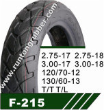 Top Sale Factory Featured Motorcycle Tubeless Tyres 2.75-17 2.75-18 3.00-17 3.00-18 120/70-12 130/60-13 T/T T/L pictures & photos