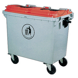 Big Size 660L Plastic Waste Bin with Wheel pictures & photos
