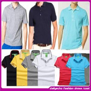 2015 Fashion Wholesale Plus Size Men Turn-Down Collar T-Shirt