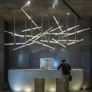 Custom Made Hotel Copper 360 Rotation Universal Joint Meteor Starfall LED Stalk Tube Pendant Light pictures & photos