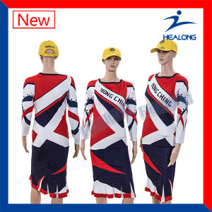 Printed Dresses Sublimation Cheerleading Uniforms Sport Wear pictures & photos