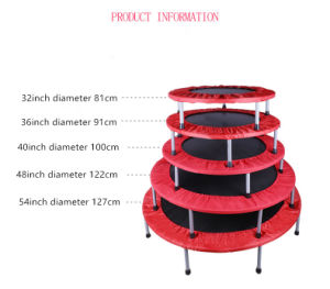 Hot Selling Mini Round Folded Trampoline, Fitness Trampoline, Family Trampoline pictures & photos