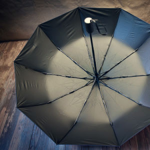Automatic Open Black Folding Type Golf Umbrella Rum0704-09 pictures & photos