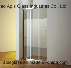 "3/8"", 1/2""Shower Bathroom Panel / Screen Glass Interior Door Glass Tempered Safety Glass with Ce SGCC pictures & photos"