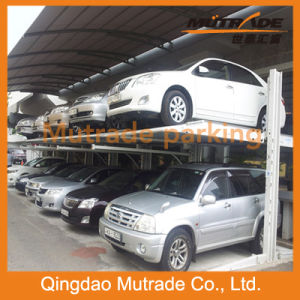 CE Two Post Double Layer Hydraulic Car Parking Lift pictures & photos