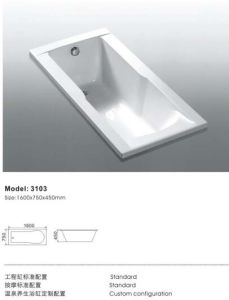 Best Price Rectangel Insert Bathtub pictures & photos