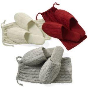 Cashmere Slipper & Cashmere Cables Bag pictures & photos