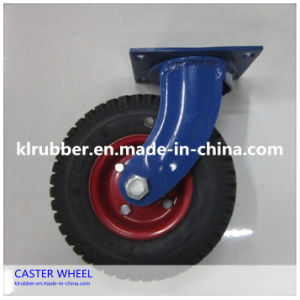 Fixed Heavy Duty Pneumatic Rubber Caster Wheels pictures & photos