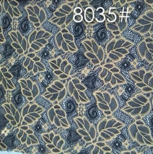 Two Tones Nylon Polyester Spandex Lace Fabric pictures & photos
