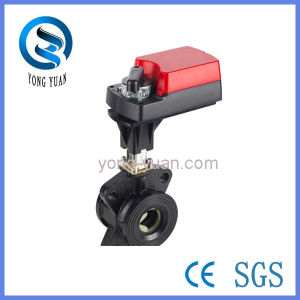 Wafer Type Electric Ball Valve, High Quality Ball Valve (DN65)