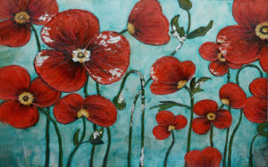 Colorful Decorative Art Flower Picture Painting on Canvas (LH-054000) pictures & photos