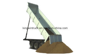 China Dump Semi Trailer with Three Axles pictures & photos