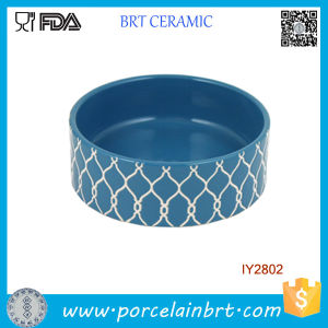 Striped Embossed Design Ceramic Pet Bowl Pet Accessories pictures & photos