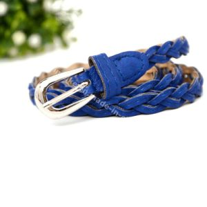 Fashion Handmade Braid Leather Skinny Lady Belt pictures & photos