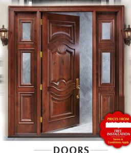 Enduring Look New Style American Panel Door Glass pictures & photos