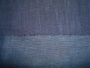 Linen Yarn Dyed Denim Like Fabric pictures & photos