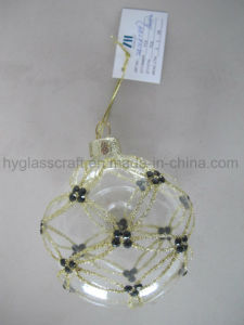 Clear Handpainting Christmas Glass Bauble pictures & photos