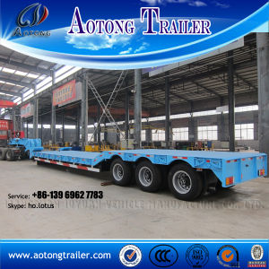 3 Axle Gooseneck Detachable Lowbed Semi Trailer with Ladder pictures & photos