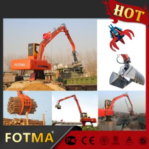Diesel Engine and Electricity Motor Hydraulic Log Grapple pictures & photos