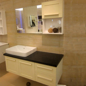 Oppein High Quality Glossy Melamine Bathroom Cabinet (OP13-025-123) pictures & photos