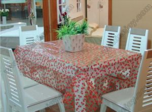Lovely Style Cherry Pattern Table Cloth, PVC Table Cover pictures & photos