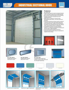 Heavy Duty Industrial Sectional Door with Side Shaft Driven Motor pictures & photos