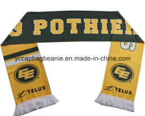 Promotional Polyester Soccer Fan Scarf, Cheap Football Scarf pictures & photos