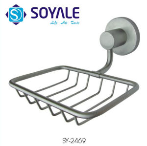 304 Stainless Steel Soap Basket with Brush Nickel Finishing Sy-2469