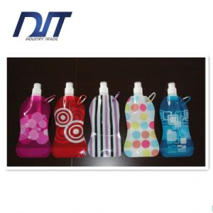 Helpful Stand up Folding Water Bottle Bag with Spout Gift