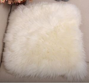 Square Furry Sheepskin Cushion for Home and Office pictures & photos