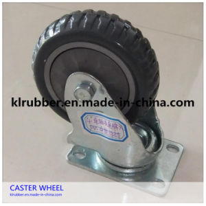 High Quality Industrial Rubber Swivel Plate Caster Wheel pictures & photos