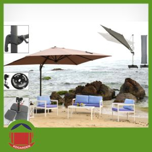 Wholesale Price Post Side Garden Umbrella with Stand pictures & photos