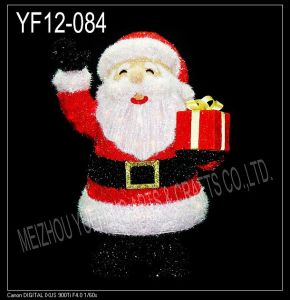 Red Tinsel Christmas Santa Clause (YF12-084)