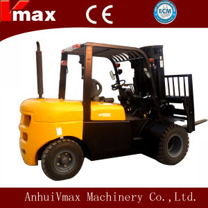 5 Ton Diesel Engine Automatic Transmission Forklift Truck with CE pictures & photos