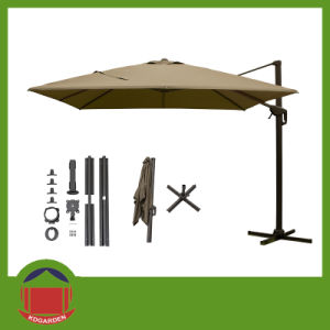 2.5m Square Aluminum Patio Garden Parasol pictures & photos