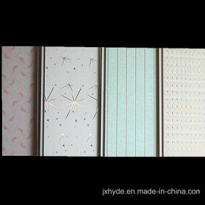 20cm Width Normal Printing PVC Wall Panel Flat/Groove Decoration Design pictures & photos