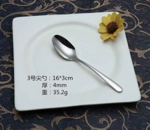 304 /18-10 Mirror Polished Stainless Steel Spoon for Tableware (C032) pictures & photos
