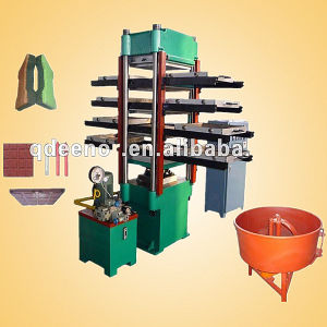 Rubber Flooring Machine / Rubber Tile Making Machine / Outdoor Rubber Tile Machine pictures & photos