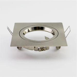 Die Cast Aluminum GU10 MR16 Halogen Square Fixed Recessed Satin Nickel LED Lighting (LT1101) pictures & photos