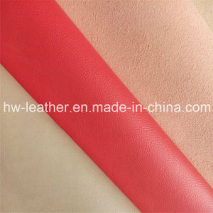 PU Microfiber Furniture Leather for Sofa, Ottoman, Loveseat Hw-865 pictures & photos