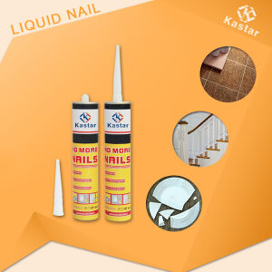 White Color Fast Bonding Free Nail Glue for Board pictures & photos