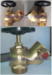 "2.5"" Brass Landing Valve W/Right Angle 45 Degree pictures & photos"