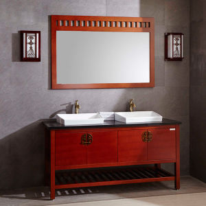 Antique Alder Square Decoration Bathroom Vanity pictures & photos