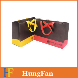 High Quality Paper Shopping Bag with Silkscreen Printed Logo pictures & photos