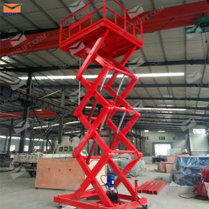 Pit Mounted Scissor Lift for Warehouse Cargo Transfer pictures & photos