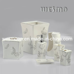 Ginkgo Leaves Porcelain Bathroom Accessory (WBC0455A) pictures & photos