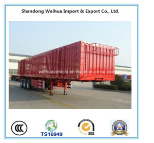 3 Axles Mechanical Suspension Box Semi Trailer pictures & photos