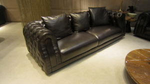 Living Room Villa Furniture Leather Sofa pictures & photos